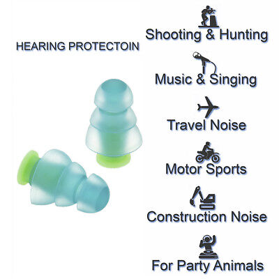 Noise Cancelling Ear Plugs+Case For Sleeping Concert Musician Hearing Protection