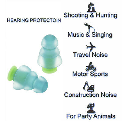 Noise Cancelling Ear Plugs+Case For Sleeping Musician Concert Hearing Protection