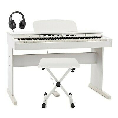 DP-6 Digital Piano by Gear4music + Accessory Pack White