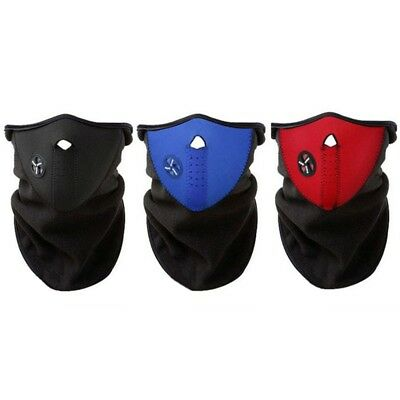 Motorcycle Half Face Mask Cover Ski Cycling Warm Winter Neck Scarf Warm Protect