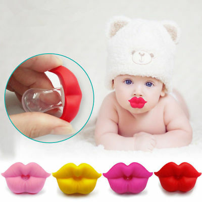 Funny Orthodontic Soother Baby Silicone Nipple Pacifier Teether Dummy Lip Cute