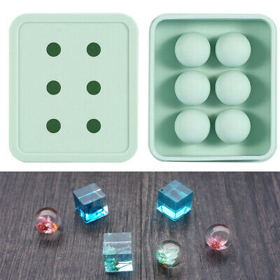 Ball/Cube Silicone Pendant Mold Making Jewelry For Resin Necklace Craft DIY Tool