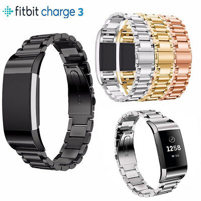 For Fitbit Charge 3 Replacement  Stainless Steel Metal Watch Band Strap Bracelet