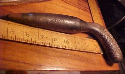 Antique Cast Iron Dibble Garden Bulb Planting Tool William Johnson Newark Nj