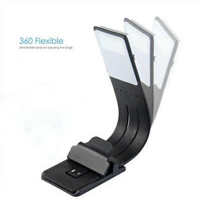 USB Rechargeable LED Book Reading Light Flexible Clip On Book Light Night Lamp