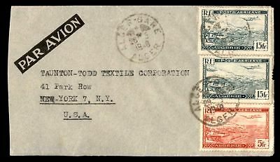 Marcel Morali Alger May 28 1948 Air Mail Ad Cover To New York Usa