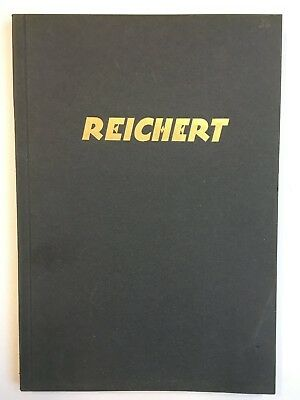 Reichert historique catalogue de microscopes 1926 / vintage microscope book
