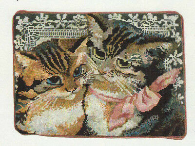 Victorian Cats Tapestry Needlepoint Chart in Colour Kaffe Fassett