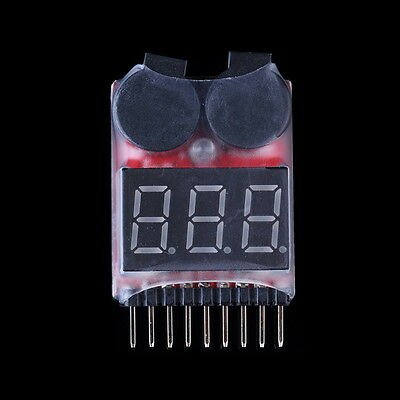 RC Lipo Battery Low Voltage Alarm 1S-8S Buzzer Indicator Checker Tester LED US