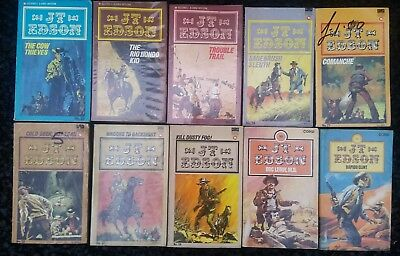 Job lot of 10 x Various Cowboy Western Paperback Books Lot 99 all J T Edson