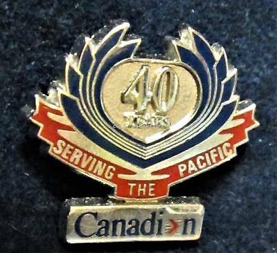CANADIAN AIRLINES INTERNATIONAL 40th PACIFIC Lapel Pin CANADA Near Mint