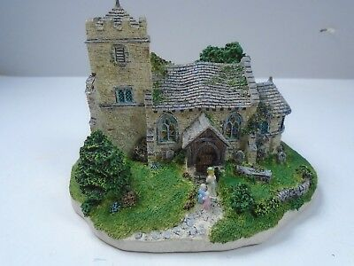 """Danbury Mint """"The Village Church"""" by Jane Hart Could be used for N Scale Layout"""