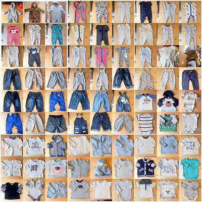 Large Bundle selection of baby boy clothing 3 - 6  Months   80 + items