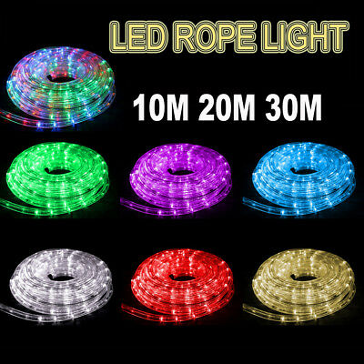 10M 20M 30M Party Christmas Lights Wedding LED Rope Light Waterproof Xmas Lights