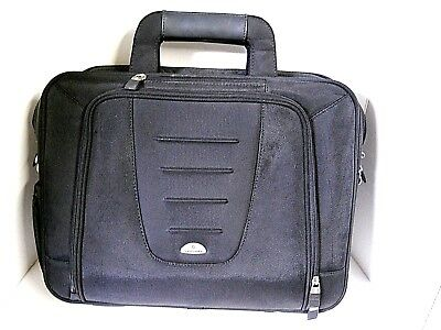 Sansonite Top Load Laptop Computer Case Bag Briefcase Nylon Multi-Pocket Black