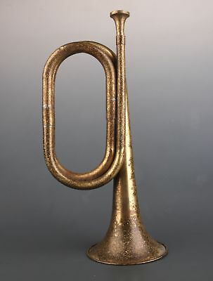 Antique Collection Old Pure Copper Bugle Military Bugle China