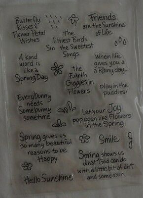 23 Stempel Clear Stamps englische Sprüche Butterfly kisses Friends are the .....