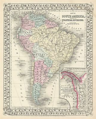 1867 Mitchell Map of South America