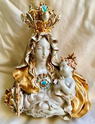 Prof. E. Pattarino Pottery Figure Madonna Damaged Made in Italy