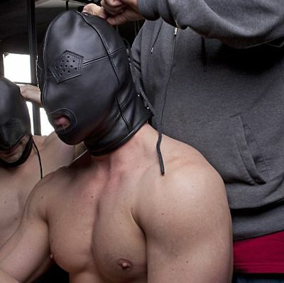 Ledermaske Maske dickes Leder Mask Leather gay muscle Bondage