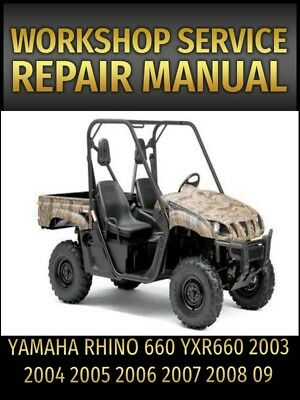 yamaha rhino 660 service repair manual yxr660 2003 2004 2005 2006 rh picclick com 2005 yamaha rhino 660 owners manual 2005 yamaha grizzly 660 service manual pdf