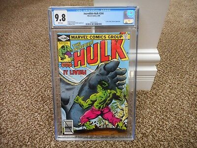 Incredible Hulk 244 cgc 9.8 Marvel 1980 WHITE pages MINT It the Living Colossus