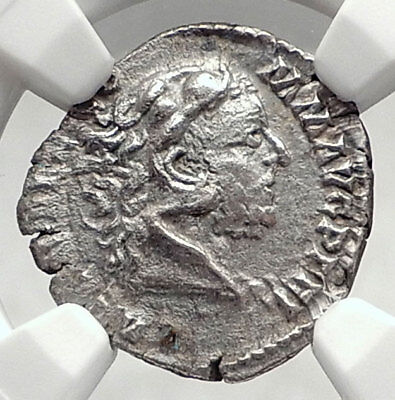 COMMODUS as HERCULES during MANIA 192AD Silver Roman Coin NGC Certified i72937