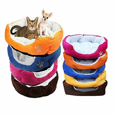 Pet Dog Puppy Cat Soft Fleece Warm Bed House Plush Cozy Pad Mat Cushion Blanket