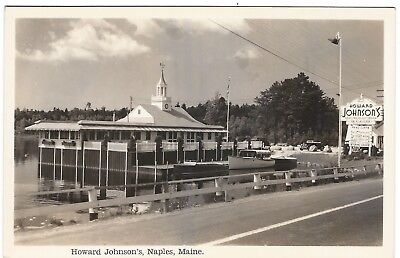 Howard Johnson's, Naples, Maine Old Real Photo Postcard
