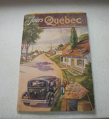 Tours in Quebec Canada Tour Pamphlet 2nd Edition May 1932