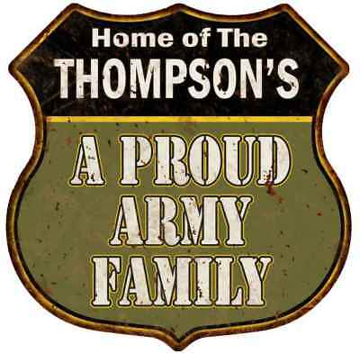 THOMPSON Vintage Look Personalized Rustic Chic Metal Sign 106180036832