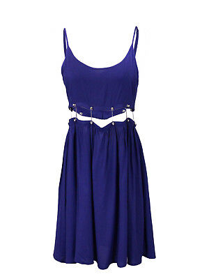 Stunning Lady Brand New Fashion Sexy Womens Blue Hot Cocktail Party Dress