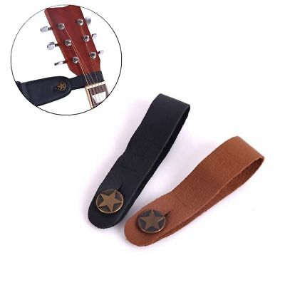 Brown Black Genuine Leather Strap Hook Button for Acoustic Folk Classic Guitar