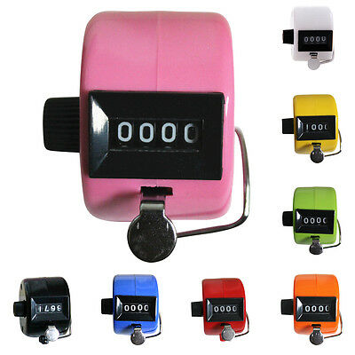 8 Color Optional Mini Chrome Hand Tally Counter 4 Digit Number Clicker Golf UK