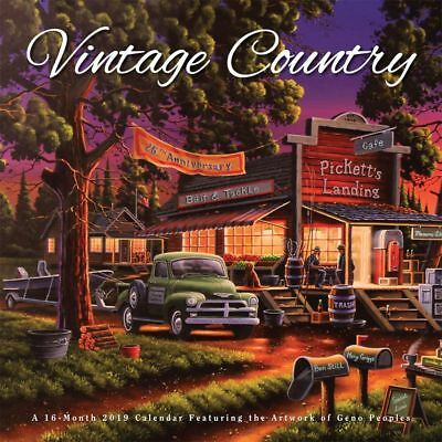 2019 Vintage Country Hopper Wall Calendar, More Folk Art by BrownTrout