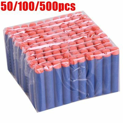 500X For Nerf N-Strike Gun Elite Jolt Soft Darts Blaster Refill Bullets Kids Toy