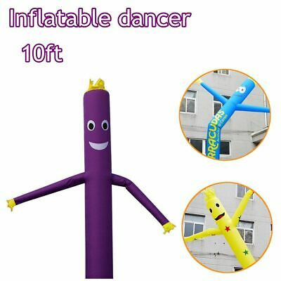UK 10ft Air Inflatable Dancer Flag Tube Wavy Man Puppet Wind Flying Advertising