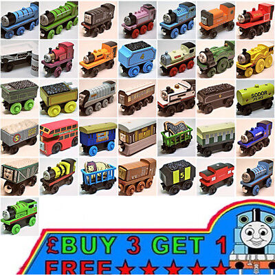 The Tank Engine Tender Wooden Magnetic Railway Train Car Toys Truck Kids Gift UK