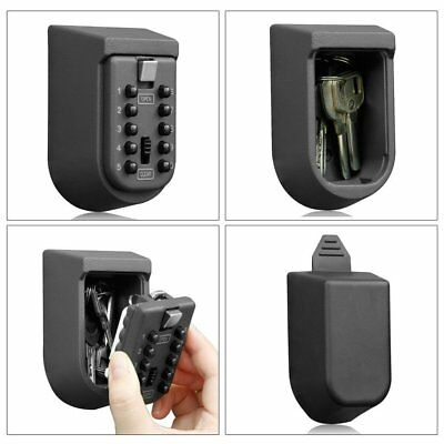 Combination Hide Key Safe Lock Box Storage Wall Mount Security Outdoor Oct