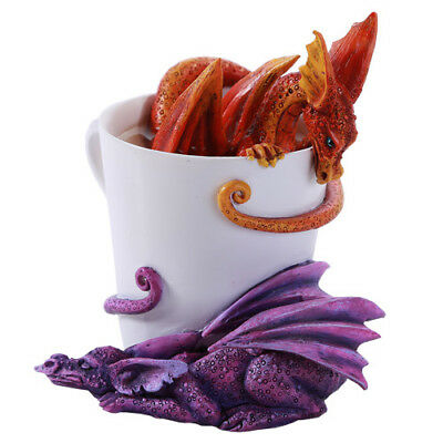 WAKE UP DRAGONS Figurine Fairy Figure Amy Brown teacup faerie cup dragon statue