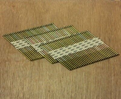 2000 Collated Galvanised 90mm x 3.1mm 34° Nails Paslode IM350 Hitachi (N33)