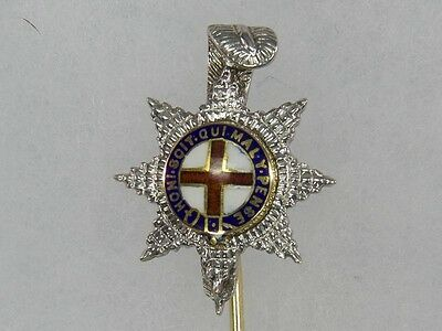 Regimentsnadel, Großbritannien, 20. Jh., Royal Sussex Regiment, Weißgold, Gelbgo