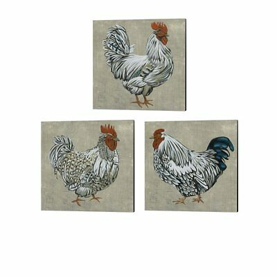 Chariklia Zarris 'Roost' Canvas Art (Set of 3)