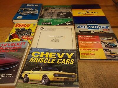 "Chevrolet magazine & book lot of 8 (D), Engineering the ""W"" engine - 348"