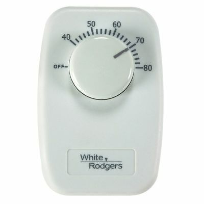 White Rodgers  Heating  Dial  Line Voltage Thermostat
