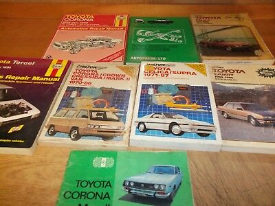 Toyota  Repair - Tuneup - Shop Manuals lot of 8 (A)