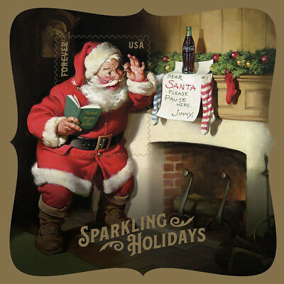 Sparkling Holidays Santa Souvenir Sheet Great Christmas Gift Stocking Stuffer