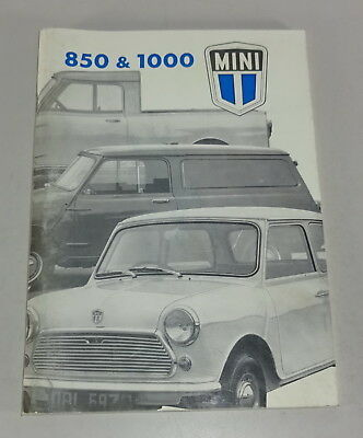 Betriebsanleitung / Owners Manual British Leyland Mini 850 + 1000 Stand 01/1975