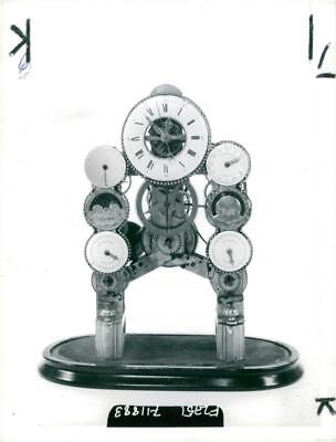 a rare mid 19th century of french skeleton clock - Vintage photo