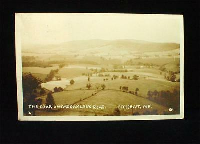 Early 1900s RPPC Accident Md Maryland The Cove on the Oakland Road